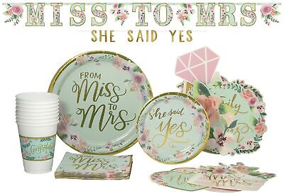 Bridal Pack! Paper Plates, Banner Kit, Photo Props, Napkins and Cups (15 Guests)](Wedding Paper Plates And Napkins)