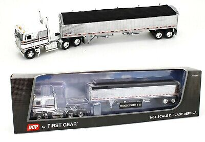 2020 DCP 1:64 *WHITE & SILVER* KENWORTH K-100 COE w/CHROME WILSON GRAIN TRAILER