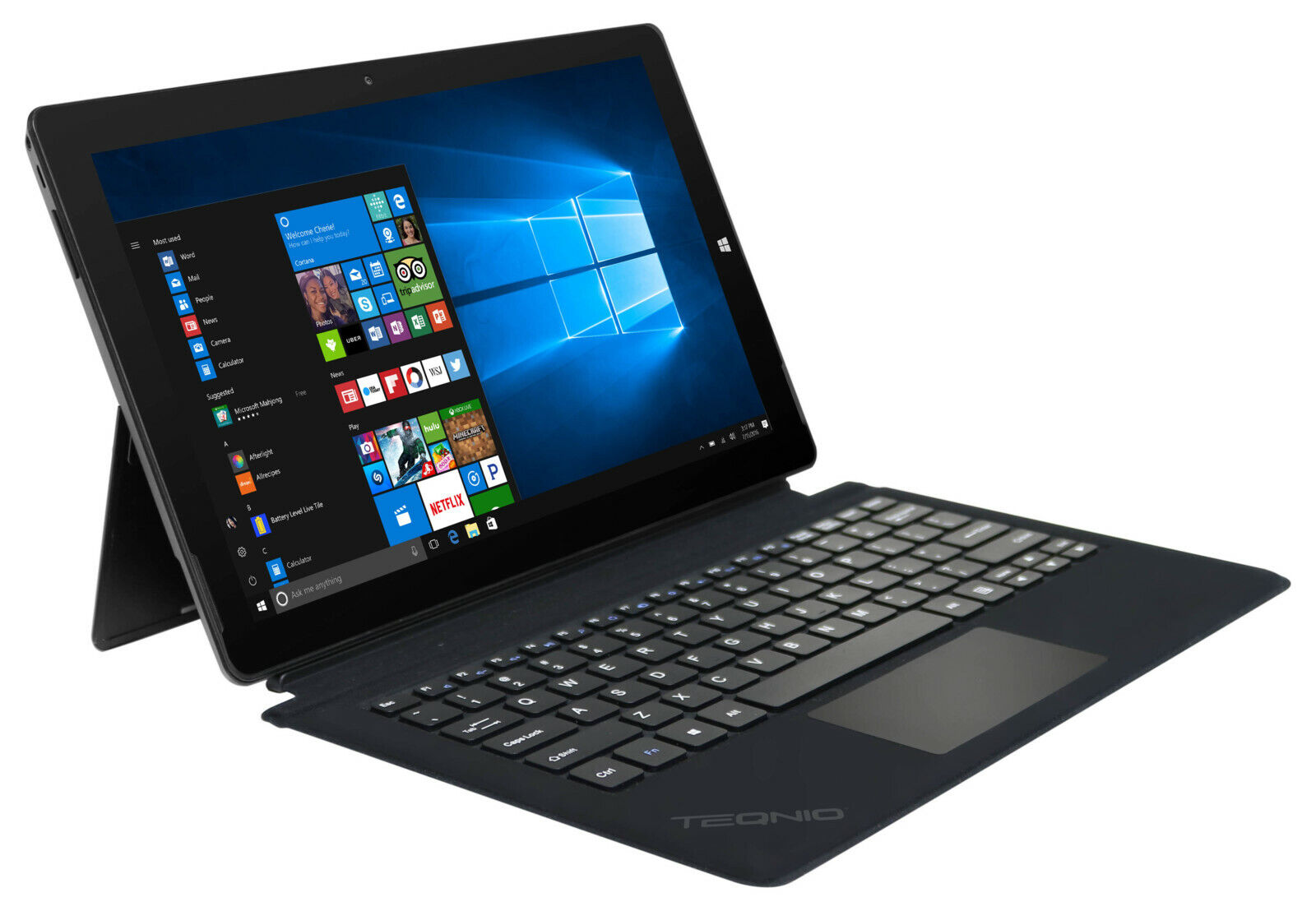 "Teqnio 11.6"" Tablet with Keyboard, Windows 10, 32GB Storage,"