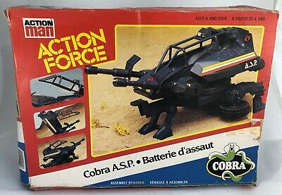 Vintage G.I. JOE  Action Force Cobra ASP A.S.P Blue gun 1984 man