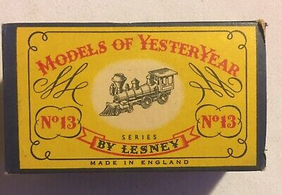 Lesney MATCHBOX Models Of  YesterYear No 13, American 4-4-0 Locomotive BOX ONLY!