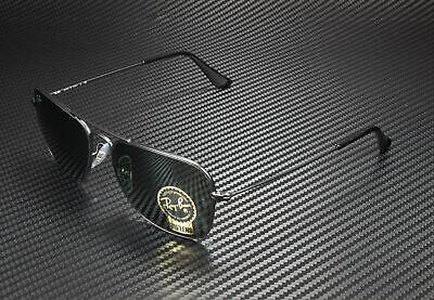 RAY BAN RB3136 W3338 Caravan Matte Black Crystal Green 55 mm Unisex Sunglasses
