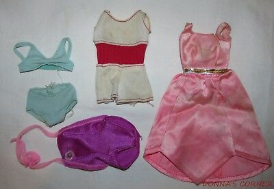 THREE  SEVENTIES AND ONE EIGHTIES ORIGINAL BARBIE OUTFITS - Seventies Outfit