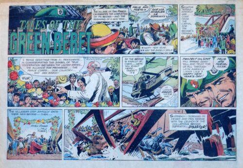 Tales of the Green Beret by Joe Kubert - half-page Sunday comic - Jan. 1, 1967