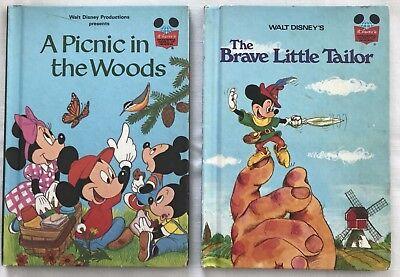 2 Walt Disney World World Reading Books Picnic Woods and Brave Little Tailor HB