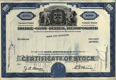 Miehle-Goss-Dexter Stock Certificate Printing Press Blue