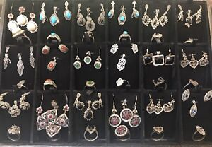 925 Sterling silver jewelry sets (pendant, earring & ring)