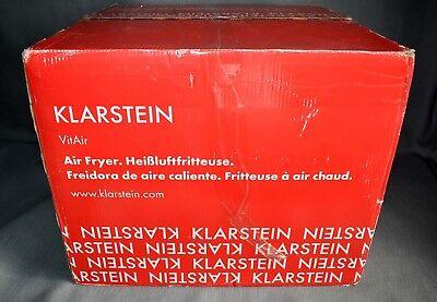 New In Box Genuine Black Klarstein 10021766 VitAir Hot Air Fryer  1300W