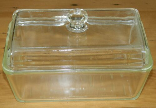 Vintage Westinghouse Covered Clear Glass Baking Loaf Dish