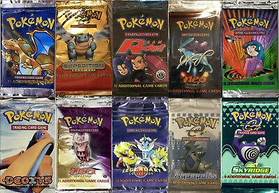 Pokemon Tcg Booster Packs Only 400 Packs Total Base Set Aquapolis Skyridge Gym