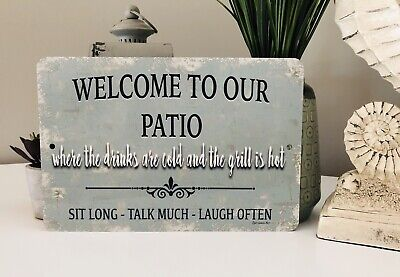 New Welcome To Our Patio Sign - Home Decor- Outdoor Sign - Metal Sign