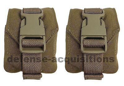 SET OF 2 NEW Eagle Industries MOLLE II Coyote Grenade Pouch MC-FGC-1-MS-COY - Molle Grenade Pouch