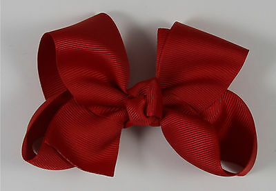 Boutiques For Little Girls (Red Boutique Grosgrain Bow - Smaller Bow for the Little Girl Head or Ponytails)