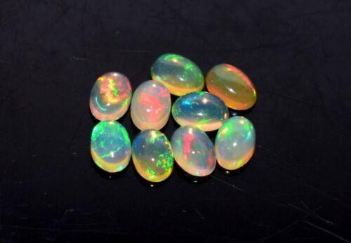 Black Friday Sale 4x6MM 9Pcs Natural Ethiopian Opal Loose Gemstone Cabochon 29