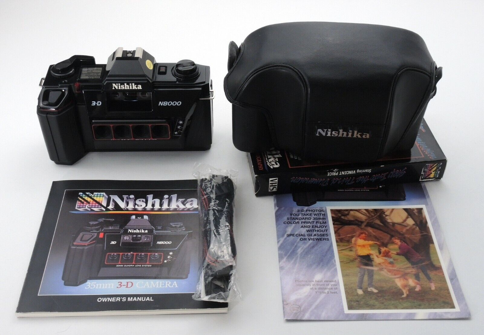 NISHIKA N8000 35mm 3-D CAMERA W/ CASE BARELY USED FULLY TESTED WORKS PERFECT - $199.99