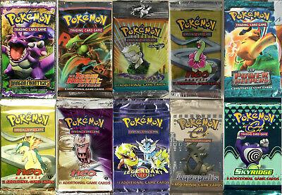 Pokemon Tcg Booster Packs Only 400 Packs Total Aquapolis Legendary Skyridge Neo