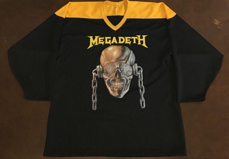 Rare Vintage Megadeth Rattlehead 83 Hockey Jersey