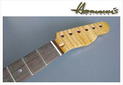 Telecaster Roasted Flamed Maple Neck mit Ovangkol Griffbrett und Abalon Dots *TF