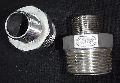 Stainless Steel Reducer Nipple 1 14 X 34 Npt Pipe Rn-125-075