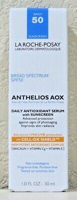 LA ROCHE-POSAY Anthelios AOX Daily Antioxidant Serum with Sunscreen SPF50 - 1oz Antioxidant Oil Free Sunscreen