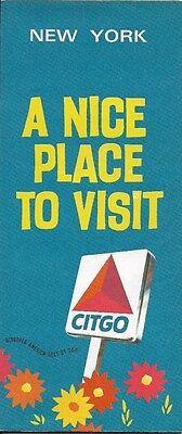 1970 CITGO Road Map NEW YORK Buffalo Rochester Syracuse  Albany Long Island