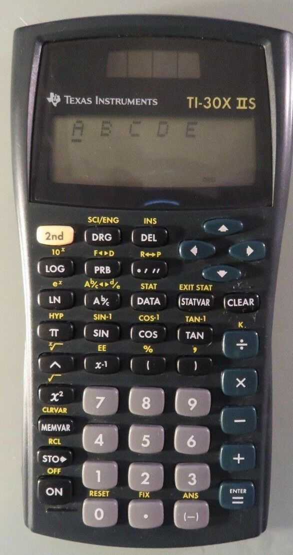 Texas Instruments TI-30X IIS Scientific Calculator, Black.  (B8)