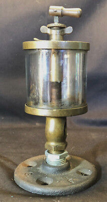 Vtg Unmarked Unbranded Brass And Glass Hit And Miss Steam Engine Oiler