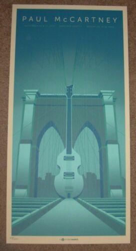 PAUL MCCARTNEY concert poster print BROOKLYN new york NYC 2017 beatles Mark5
