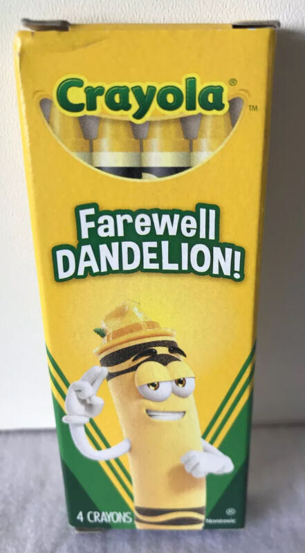 Crayola Farewell Dandelion Discontinued Color Box Of 4 Crayons - Collectible NEW