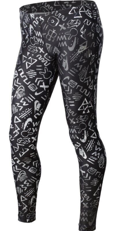 Spodnie NIKE RUN HERITAGE PRNTD TIGHT YTH 589595 010 Size Small