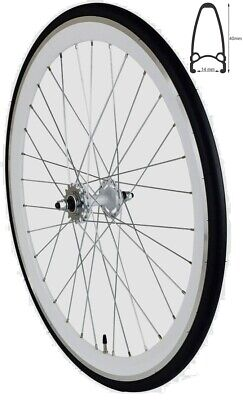 REDONDO 28 Zoll Hinterrad Singlespeed Fixie Laufrad Felge Weiß Schwarz + Reifen gebraucht kaufen  Deutschland
