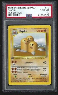 Pokemon card German Base set 1st ediion #19 Digdri DUGTRIO