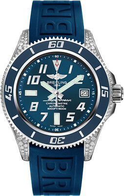 A1736467/C868-148S | NEW BREITLING SUPEROCEAN 42 BLUE DIAL DIAMOND MEN'S WATCH