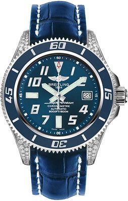 A1736467/C868-719P | NEW BREITLING SUPEROCEAN 42 BLUE DIAL DIAMOND MEN'S WATCH