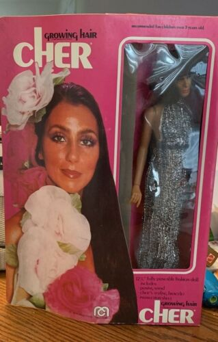 "1976 Mego Growing Hair Cher 12 1/4"" poseable fashion doll"