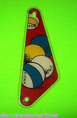 PINBALL POOL By GOTTLIEB 1979 ORIGINAL PINBALL MACHINE RIGHT SLINGSHOT PLASTIC