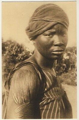 CONGO WOMAN W SCAR TATTOO FRAU M T TOWIERUNG VINTAGE 20S ETHNIC PC