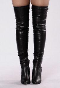 Thigh high boot-Black