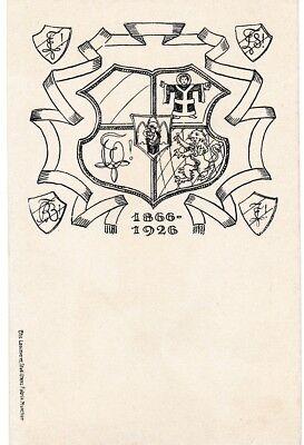 Studentika Couleurkarte 1866-1926 Ottonia München Couleurkarte Studentica KStV