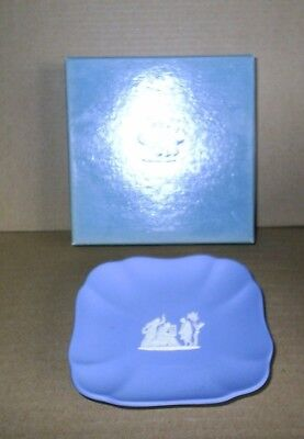 Wedgwood Jasperware Blue Scalloped Square Dish Blue Square Dish