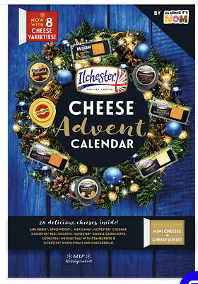 Cheese Ilchester 24 Wrapped Cheeses 2020 Hard To Find Calendar 1-24 days!