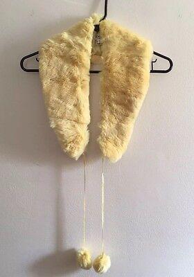 New Genuine Soft Rabbit Fur Long Collar Scarf Shawl Neck-Warmer Ribbon for sale  Flushing