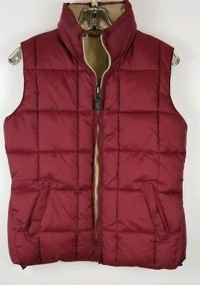 Silver Rider Reversible Down Vest. Full Zip Size S/C Tan And Maroon Rider Down Vest