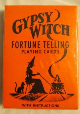 Halloween Gypsy Witch Fortune Telling Playing Cards Unused Set Deck NIP Gypsy Witch Deck