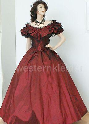 Westernkleid Biedermeierkleid Südstaatenkleid Civil War Kleid KT240