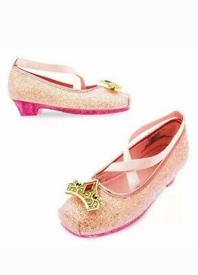 Disney Sleeping Beauty Costume (NEW Disney Store Aurora Sleeping Beauty Costume Dress Shoes Sz)