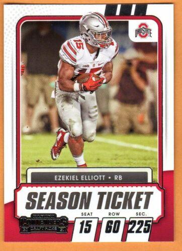 EZEKIEL ELLIOTT(OHIO STATE)SILVER 2021 PANINI CONTENDERS CARD