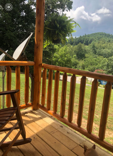 """Log Railing and Spindles-Northern White Cedar-3"""" x 8"""