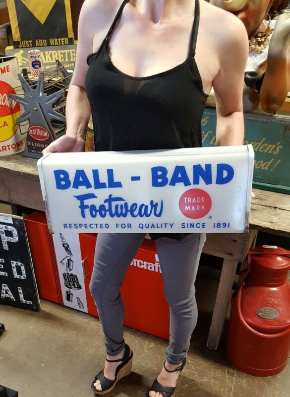 Vintage Ball Band Footwear Lighted Working Advertising Sign