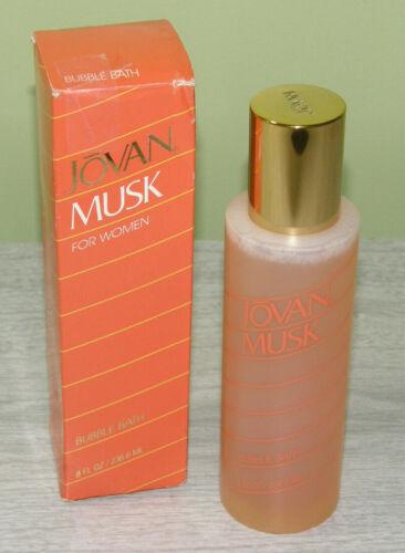 Vintage Unused Jovan Musk For Women Scented Bubble Bath 8 oz. No Longer Made NOS